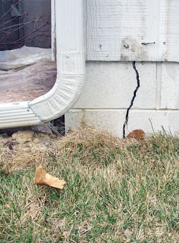 foundation wall cracks due to street creep in Evansville