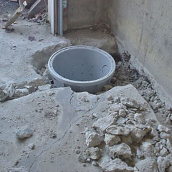 Placing a sump pit in a Powell home