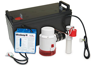 a battery backup sump pump system in Rawlins