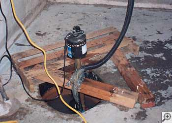 A Douglas sump pump system that failed and lead to a basement flood.