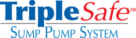 Sump pump system logo for our TripleSafe™, available in areas like Manville