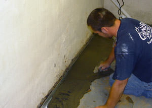 Restoring a concrete slab floor in Wyoming.