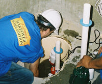 installing a sump pump and backup sump pump system in Edgerton, WY