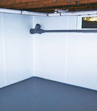 Plastic basement wall panels installed in a Jackson, Wyoming home