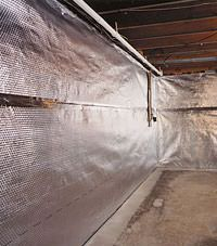 Radiant heat barrier and vapor barrier for finished basement walls in Jackson, Wyoming